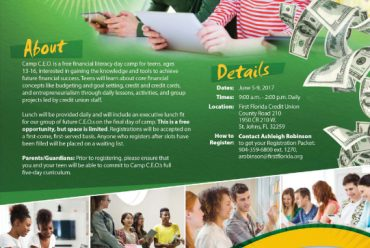 First Florida Credit Union – Camp C.E.O. Financial Literacy Summer Camp