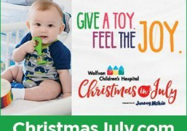 """Wolfson Children's Hospital's """"Christmas in July"""" Toy and Donation Drive"""